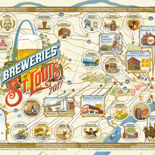 2017 St. Louis Breweries Map Poster